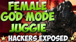 "COD Ghosts ""FEMALE GOD MODE JUGGIE"" on INFECTED ""HACKERS EXPOSED"" (Call of Duty Cheaters)"