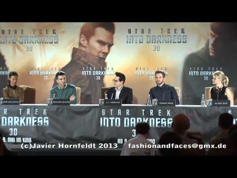 Star Trek Into Darkness Press Conference Berlin, Chris Pine, Zachary Quinto, Zoe Saldana etc.