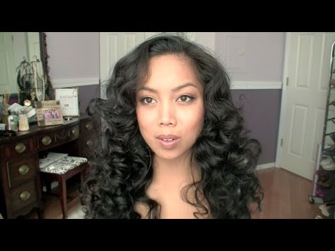 How-to Heatless Curls Hair Tutorial with sponge rods - itsJudyTime