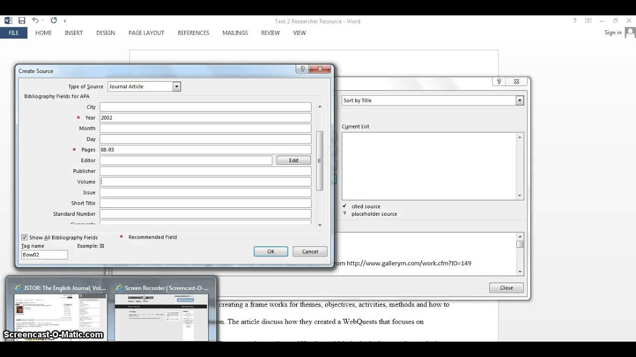 thesis referencing tool