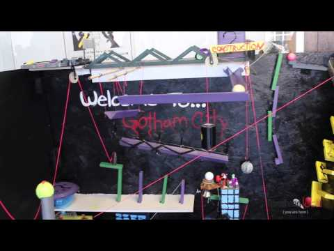 Gotham City Rube Goldberg machine
