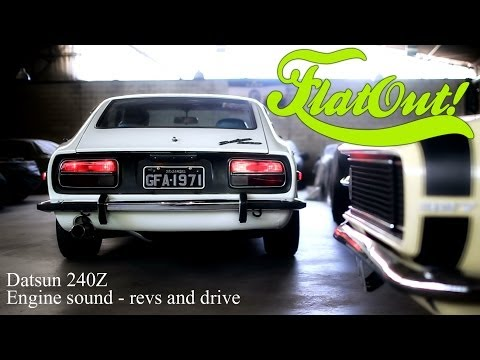 Datsun 240Z (Nissan) - engine sound and drive