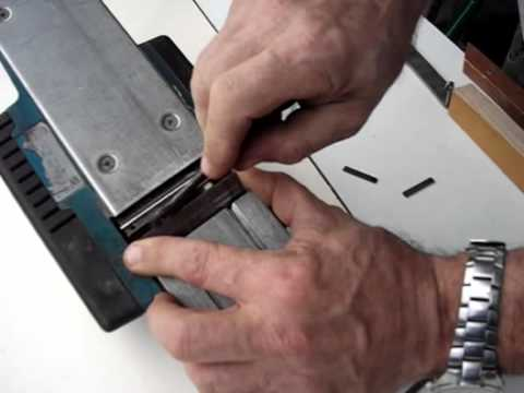 Changing Power Planer Blades