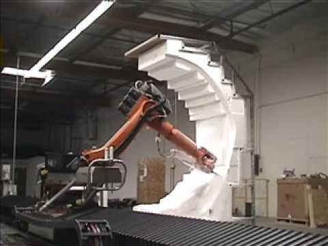 Robot do cięcia dużych elementów styropianowych