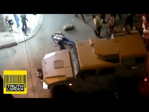 Egyptian army shoots man from behind in Alexandria protests? - Truthloader