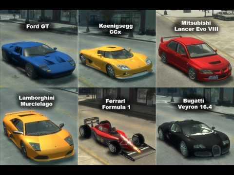 Gta4 Mod Custom Cars Handling Package V1 Youtube