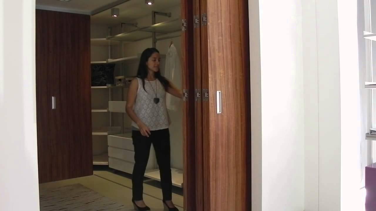 Tauro md sistema oculto para puertas plegables de madera for Modelos de puertas corredizas de madera