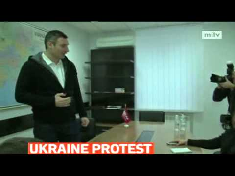 mitv - A major protest outside the private residence of President Viktor Yanukovych