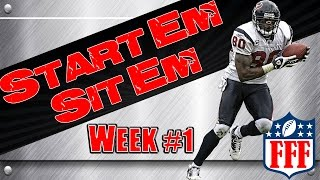 Week 1 Start'Em Sit'Em| Sleepers| 2014 Fantasy