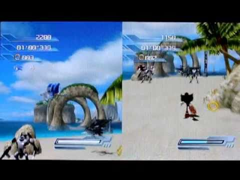 Sonic the Hedgehog - Multiplayer - Tag: Wave Ocean S-Rank (PS3), I recorded them by my digital camera! 1P(Sonic): Me 2P(Shadow): My brother Multiplayer mode is fun! Sorry for the low-speed video. Multiplayer makes it slow ...
