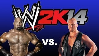 WWE 2K14: Stone Cold Steve Austin Vs Goldberg Tables