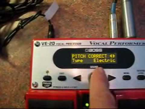 BOSS VE-20 Vocal Performer - How to get the Auto-Tune sound likeT-Pain