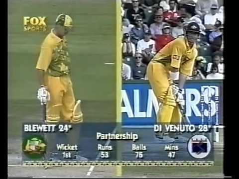 Adam Gilchrist 77 vs South Africa 1996/97