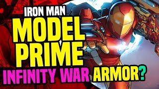 Avengers Infinity War: Model Prime Armor + Bleeding Edge Armor= Big Game Spot Teaser Armor