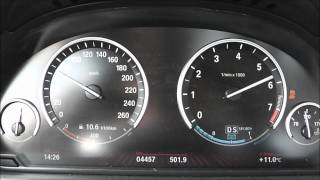 2012 BMW Active Hybrid 5 (F10) 340 PS 0-100 Km/h & 0-160