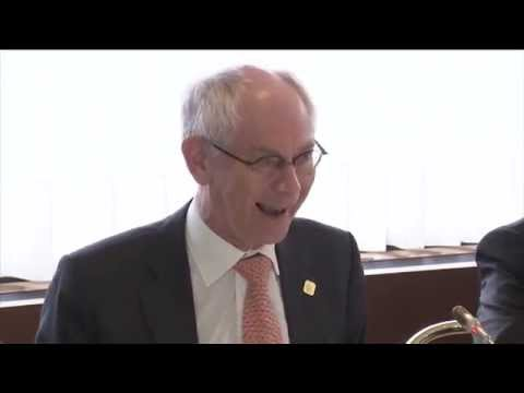 Van Rompuy welcomes Japan PM with an Haiku
