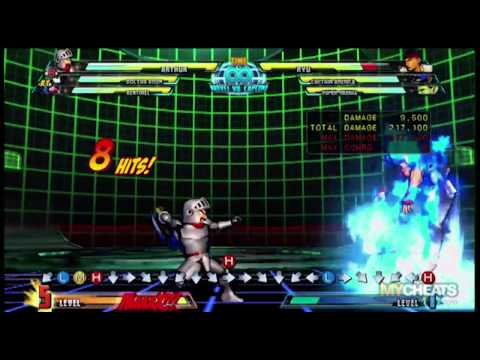 Marvel vs Capcom 3 Arthur 751K Damage Combo Strategy Video