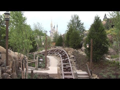 Seven Dwarfs Mine Train Entrance Sign, Fastpass+ Clock & More Walls Down, Magic Kingdom