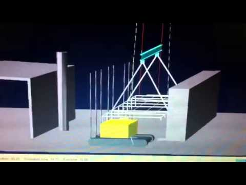 Multybody Simulation of lifting activities for a shed erection