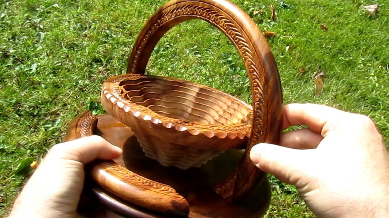 Handmade Collapsible Wooden Baskets : Handmade real wood collapsible basket