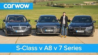 Mercedes S-Class vs Audi A8 vs BMW 7 Series review - which is the best?   carwow