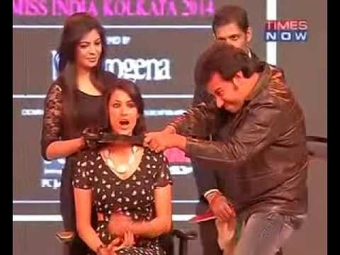 PC Sorcar Pouroosh and Barkha Bisht at Femina Miss India 2014
