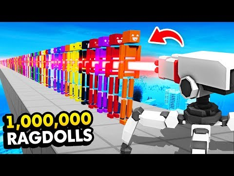 How Many RAGDOLLS Can 1 LASER SHOT DESTROY? (Fun With Ragdolls: The Game Funny Gameplay)