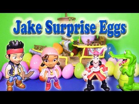 JAKE AND THE NEVER LAND PIRATES Disney Junior Jake Surprise Eggs Video Parody