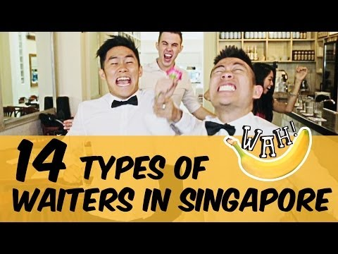 14 Types of Waiters in Singapore