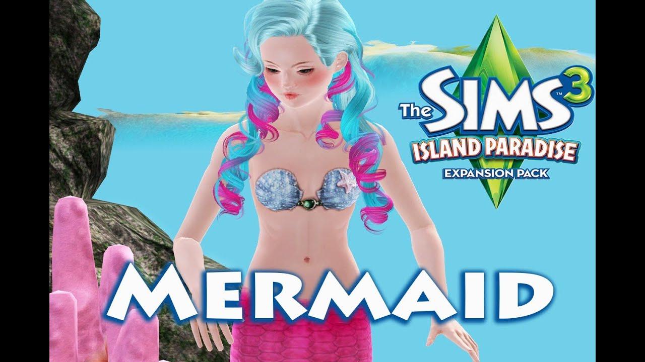 Sims 3 island paradise mermaid all skill - YouTube
