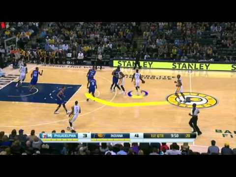 Breaking Bones  Lance Stephenson   Pistons vs Pacers   December 16  2013   NBA 2013 14 Season