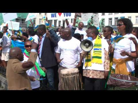 DRB-Rugari en manifestation de soutien au Président Paul Kagame, le 2 avril 2014