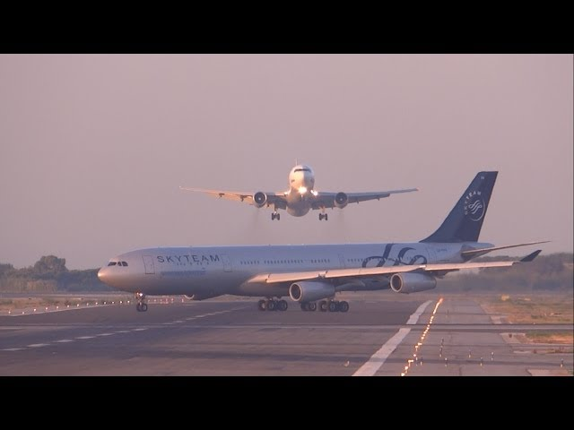 [FULL HD] UTair Aviation 767-300 NEAR MISS? GO AROUND at Barcelona-El Prat