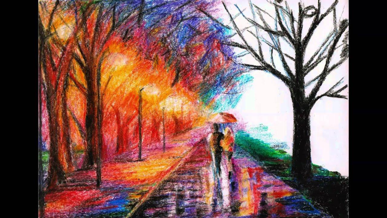 Crayon Drawing Of Leonid Afremovs Artwork YouTube