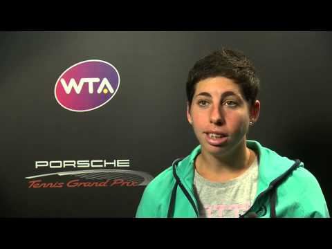 Interview Carla Suarez Navarro (ESP) - Porsche Tennis Grand Prix
