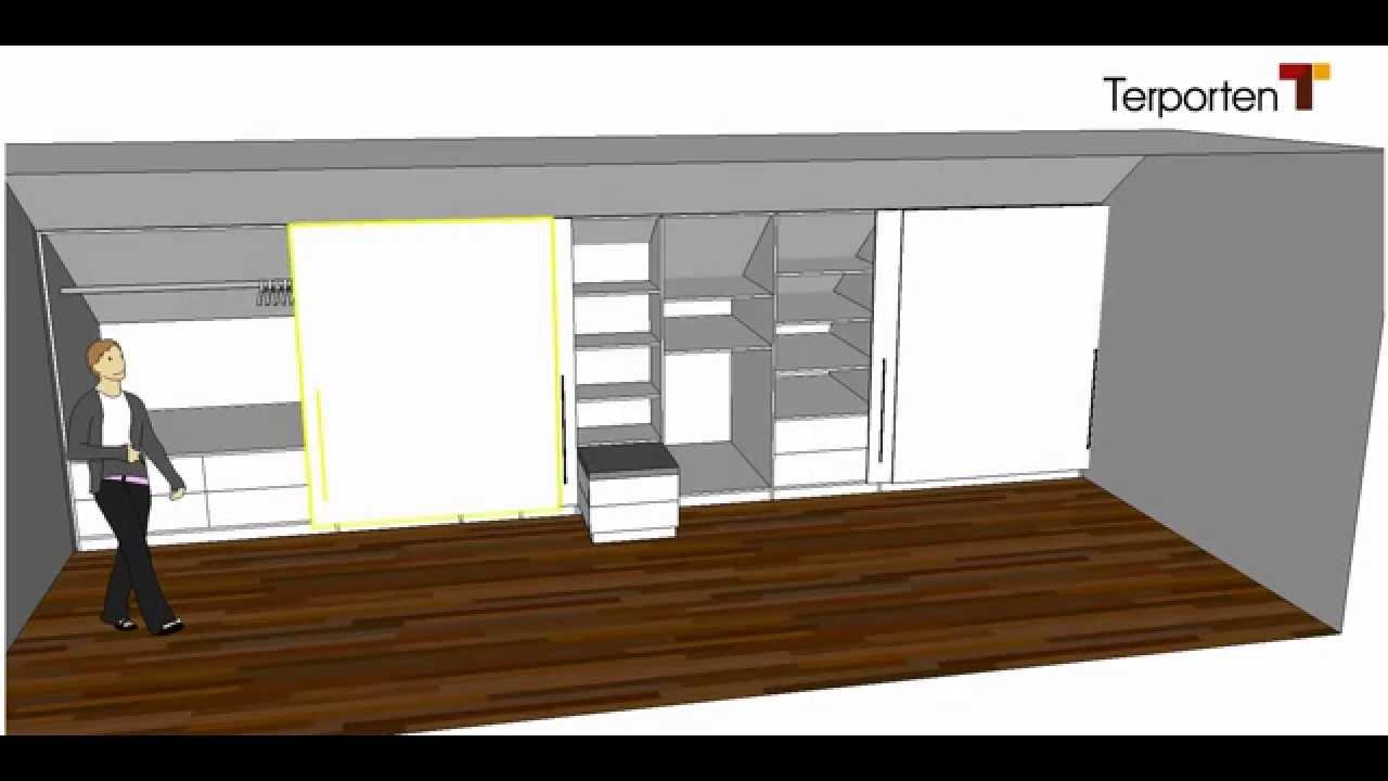 kleiderschrank in einer dachschr ge terporten tischler schreiner viersen krefeld m nchengladbach. Black Bedroom Furniture Sets. Home Design Ideas