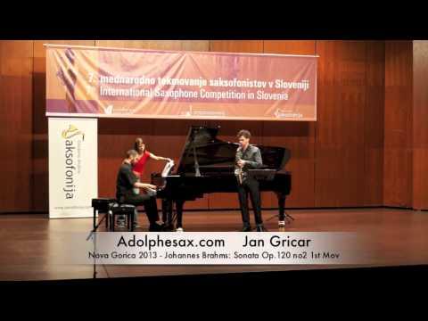 Jan Gricar – Nova Gorica 2013 – Johannes Brahms: Sonata Op 120 no2 1st Mov