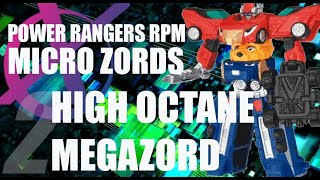 Power Rangers RPM Micro Zords reviews pt 2- High Octane Megazord