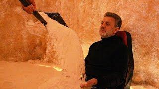 """""""كهوف الملح"""" في بنغازي تفتح أبوابها للباحثين عن العلاج الطبيعي"""