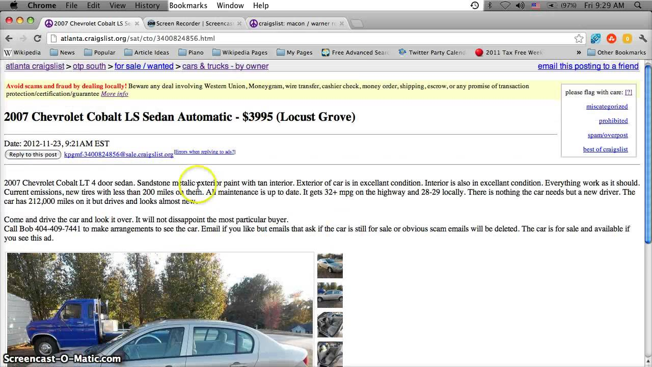Craigslist Used Cars For Sale In Indianapolis