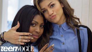 Zendaya and Her Best Friend Zink's Nail Art Mani Date – Besties – Teen Vogue