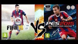 PES 2015 Vs FIFA 15 COMPARACIÓN PS4