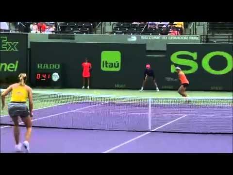 Sony Open Tennis Sharapova vs Flipkens Highlights 3-24