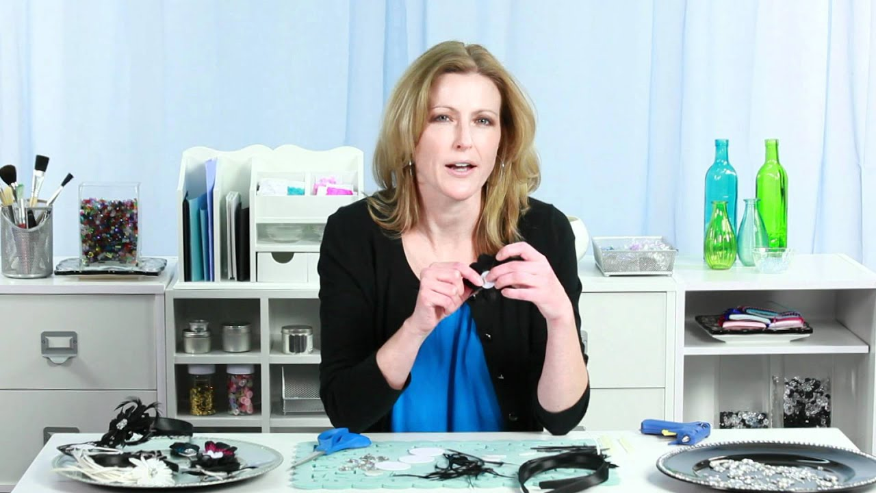 do it yourself hair accessories black feathered headband youtube. Black Bedroom Furniture Sets. Home Design Ideas