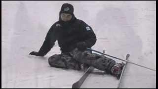 Aprende a esquiar. Como caer y levantarse