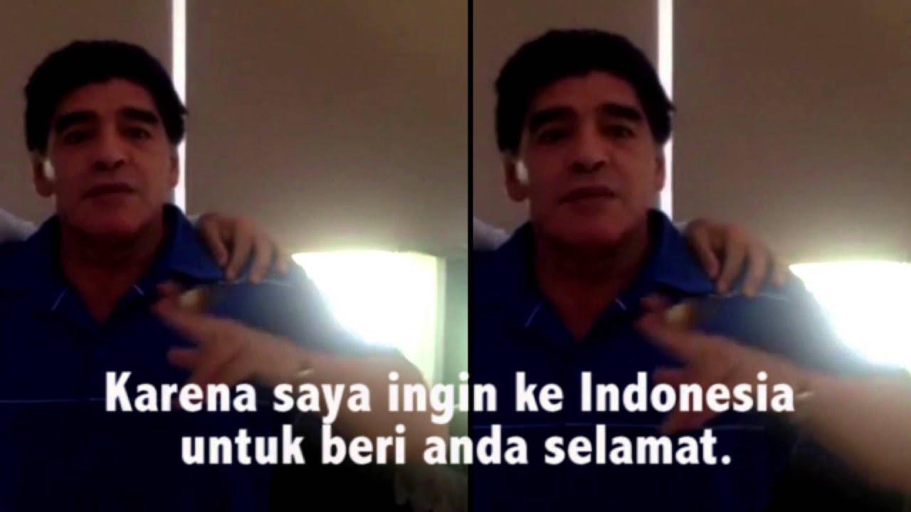 Heboh !!! Maradona dukung prabowo jadi Presiden