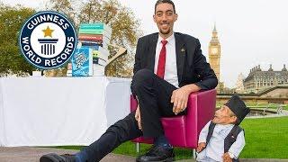 Guinness World Records Day 2014 Tallest And Shortest Men