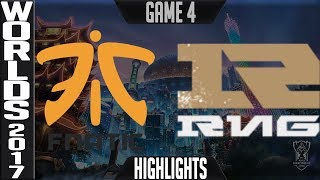 FNC vs RNG Highlights Game 4 - Quarterfinal World Championship 2017 Fnatic vs Royal Never Give Up