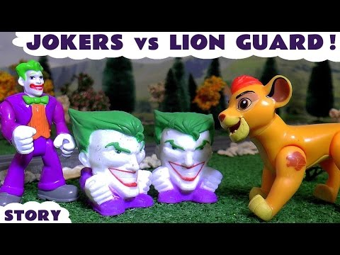 Joker vs Disney Junior Lion Guard Toys with Thomas and Friends | Blind Bag Theft and Opening