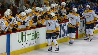 Predators' Subban scores fluttering goal after turnover by Canucks' Del Zotto